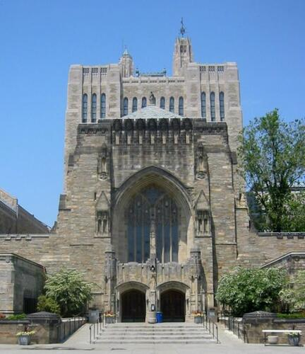 Photo of Sterling Library at Yale University